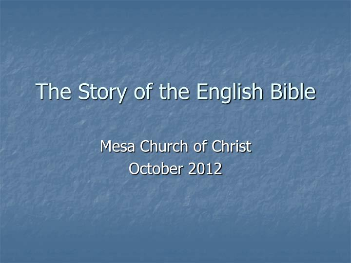 the story of the english bible n.