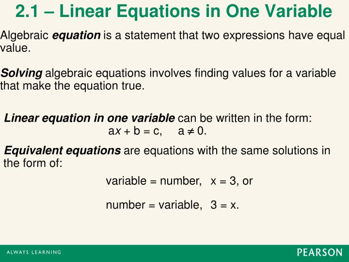 solving two step equations powerpoint