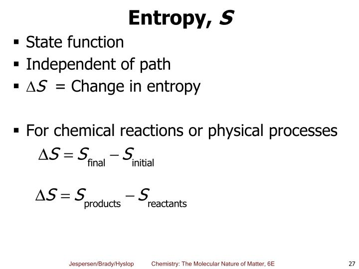 Entropy,