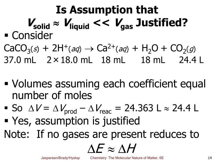 Is Assumption that