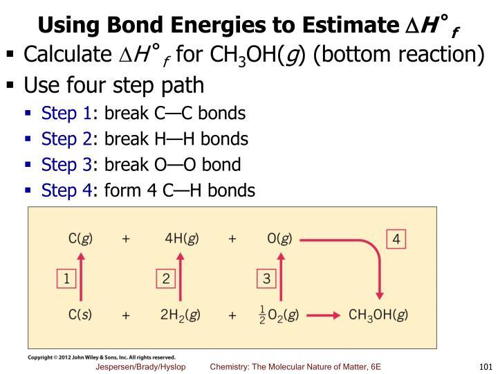 Using Bond Energies to Estimate