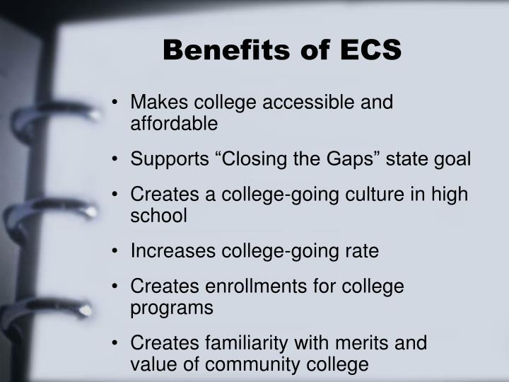 Benefits of ECS