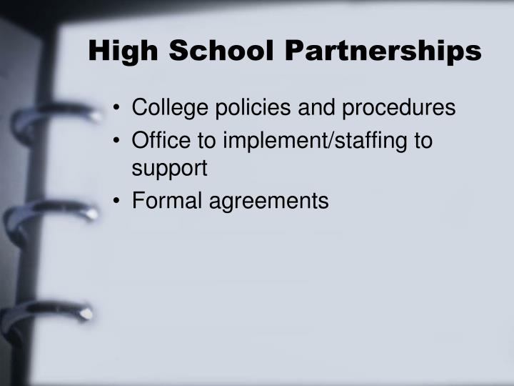 High School Partnerships