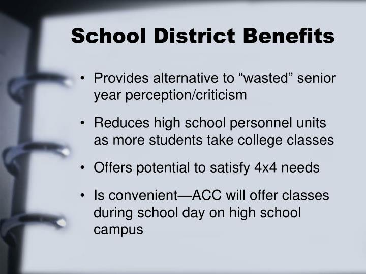 School District Benefits