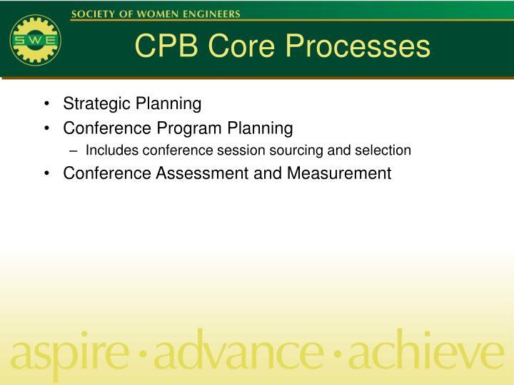 Cpb core processes