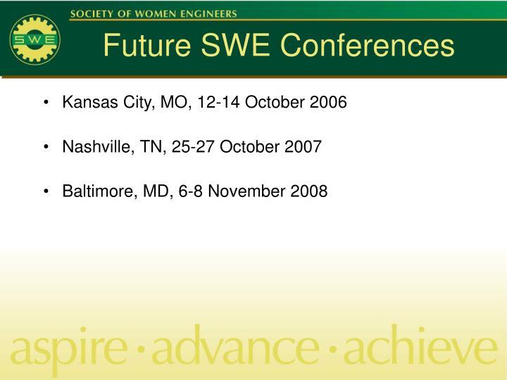 Future SWE Conferences