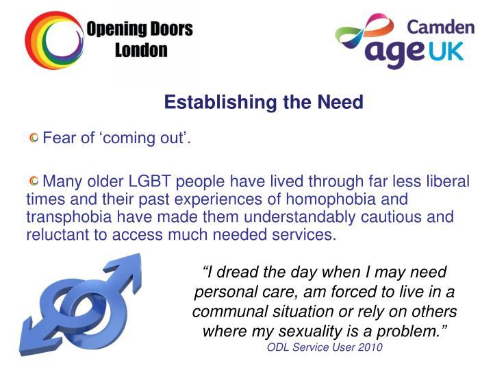 Establishing the Need