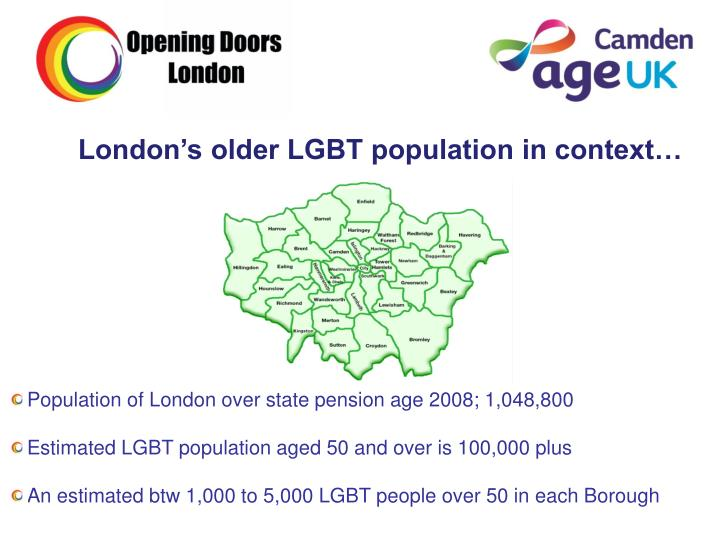 London's older LGBT population in context…