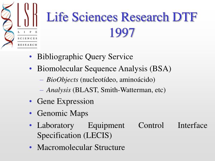 Life Sciences Research DTF
