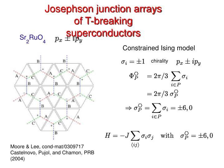 Josephson junction arrays