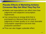 placebo effects of marketing actions consumer may get what they pay for