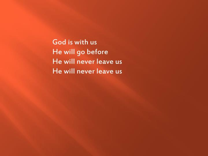 God is with us