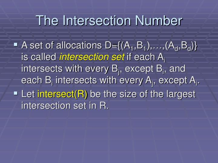The Intersection Number