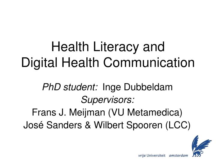 concept analysis of health literacy