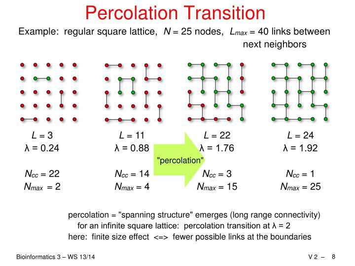 Percolation Transition