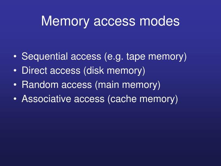 Memory access modes