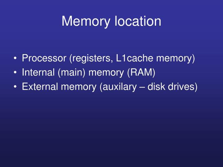 Memory location