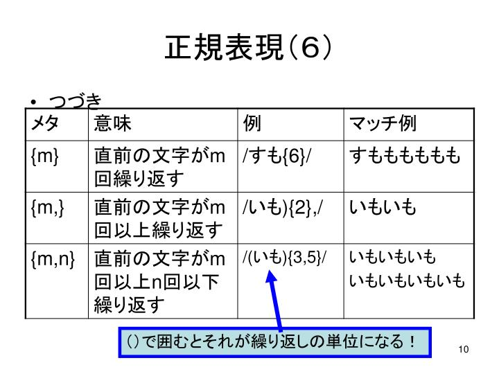正規表現(6)