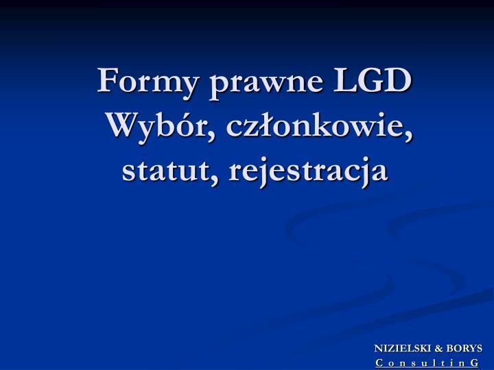 Formy prawne LGD