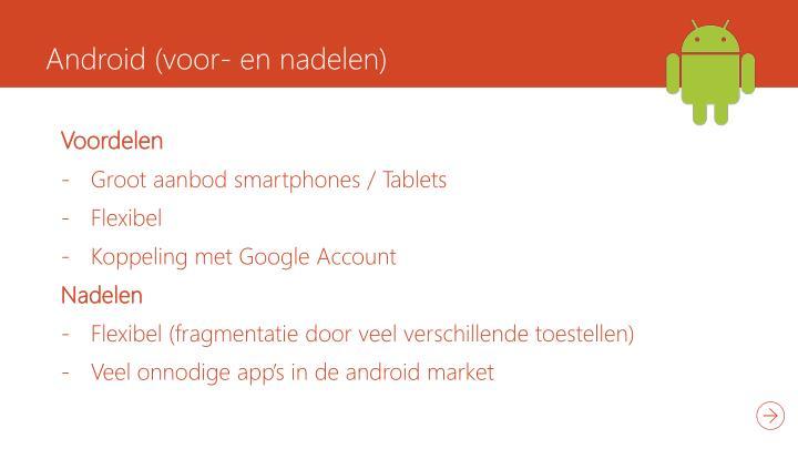 Android (voor- en nadelen)