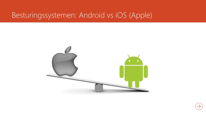 Besturingssystemen android vs ios apple