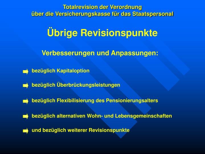 Totalrevision der Verordnung
