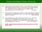 pressure and solubility of gases henry s law