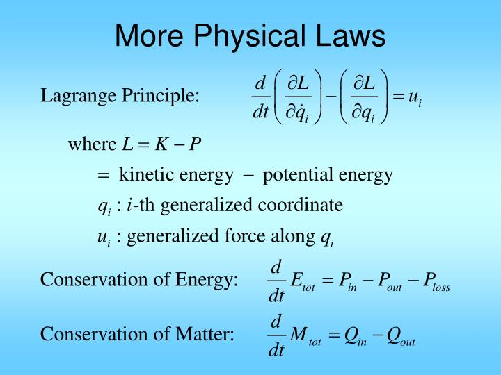 More Physical Laws