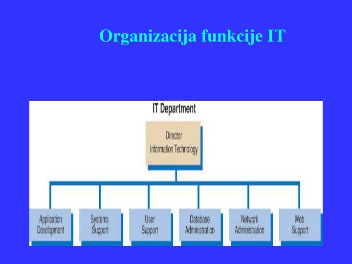 Organizacija funkcije IT
