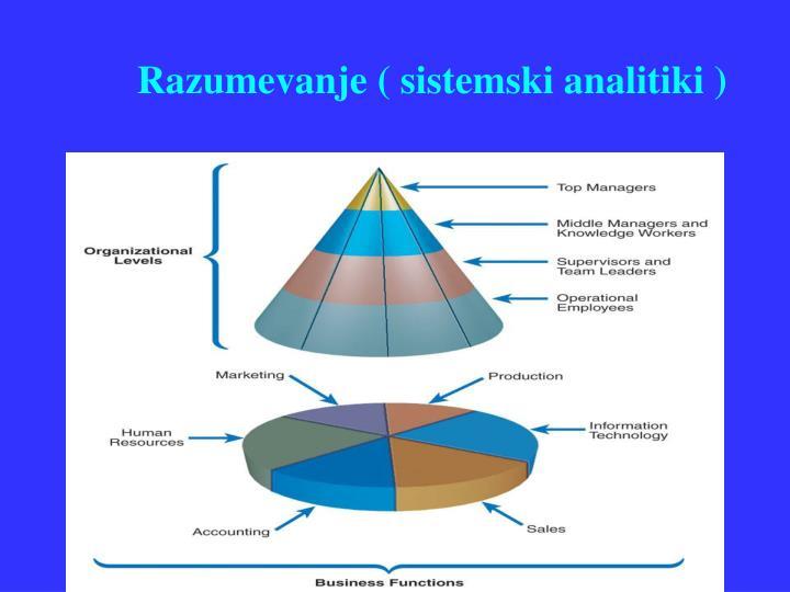 Razumevanje ( sistemski analitiki )