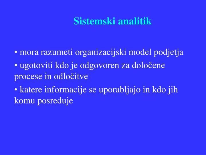 Sistemski analitik