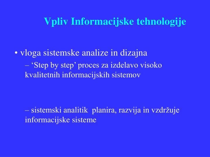 Vpliv informacijske tehnologije1