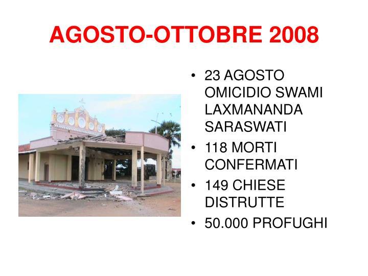 AGOSTO-OTTOBRE 2008
