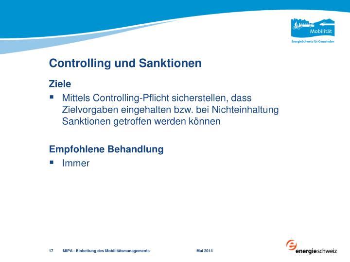 Controlling und Sanktionen