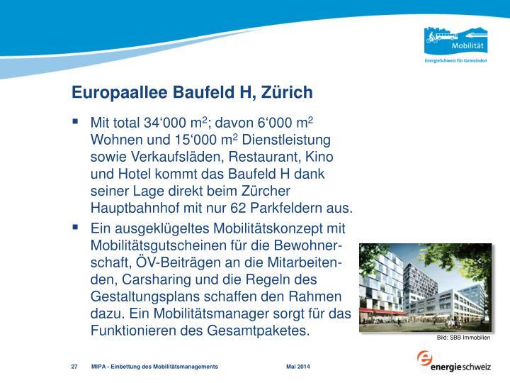 Europaallee Baufeld H, Zürich