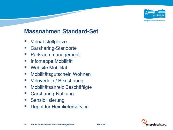 Massnahmen Standard-Set