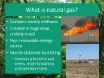what is natural gas