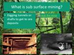 what is sub surface mining