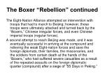 the boxer rebellion continued6