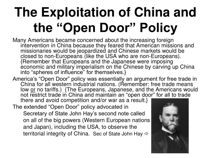 the exploitation of china and the open door policy