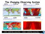 the changing observing system