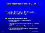 data retention under ec law