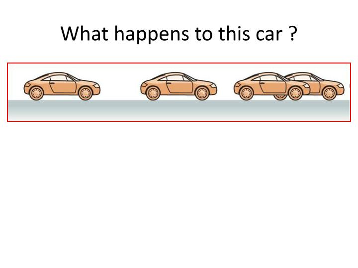 What happens to this car ?