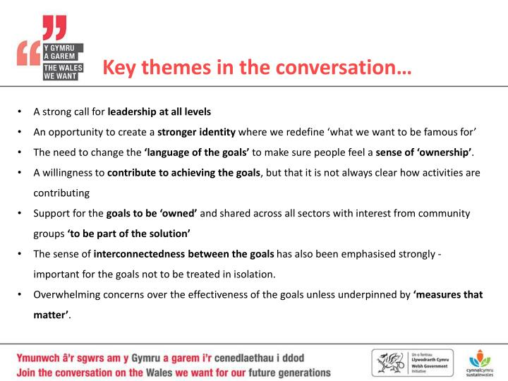 Key themes in the conversation…