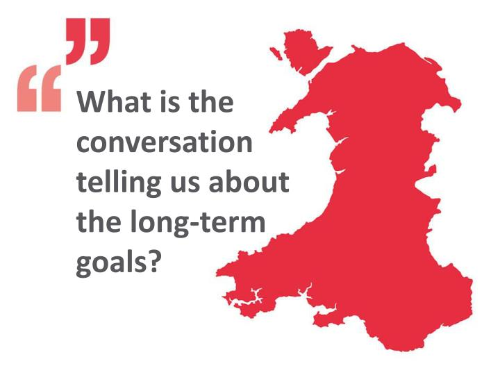 What is the conversation telling us about the long-term goals?
