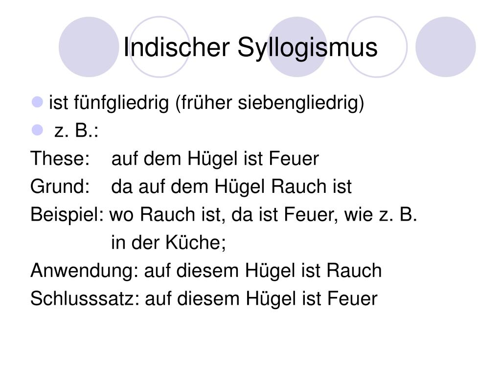 Syllogismus 6