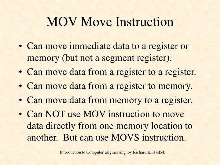 Mov move instruction
