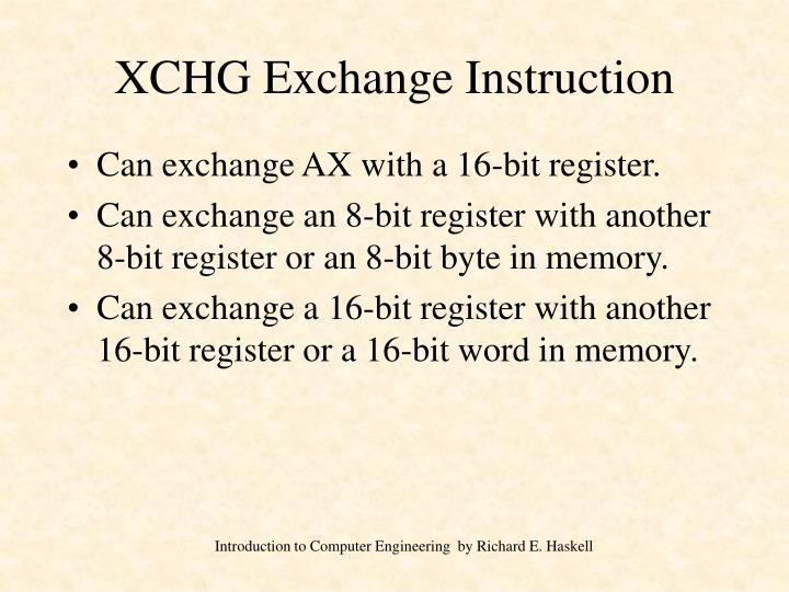 XCHG Exchange Instruction