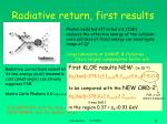 radiative return first results