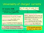 universality of charged currents